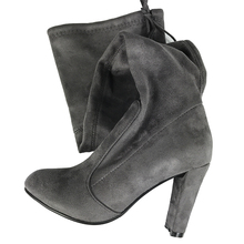 Top Faux Suede Women Thigh High Boots Stretch Slim Sexy Fashion Over the Knee Boots Female Shoes High Heels Black Gray Wine Nude