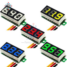 """Mini 0.28 inch 0.28"""" 3 Wires LED Display Digital Voltmeter Blue Red Green Yellow Whtie DC 0-100V Voltage Meter Tester"""