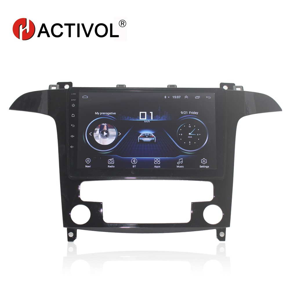 HACTIVOL 9 1024*600 Quadcore android 8.1 car radio for Ford S-Max 2007-2008 car DVD player GPS Navi wifi bluetoothHACTIVOL 9 1024*600 Quadcore android 8.1 car radio for Ford S-Max 2007-2008 car DVD player GPS Navi wifi bluetooth
