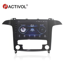 HACTIVOL 9 1024*600 Quadcore android 8.1 car radio for Ford S-Max 2007-2008 DVD player GPS Navi wifi bluetooth