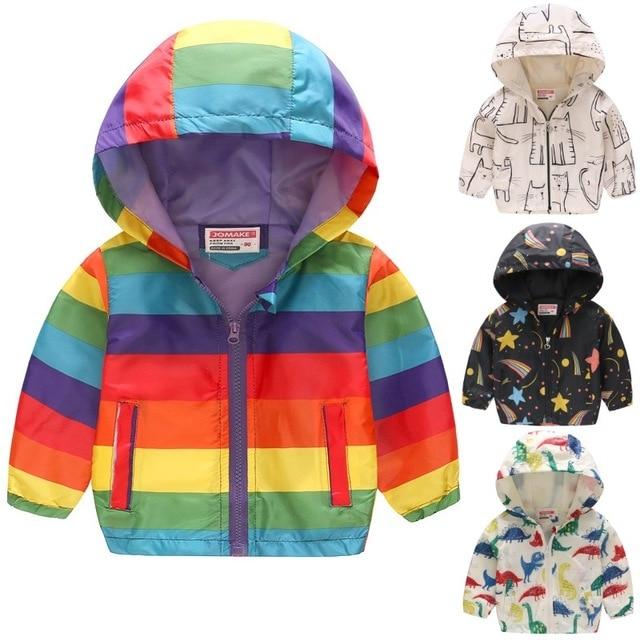 Rainbow Baby Boy Clothes Thin Kids Jacket Hooded Coat ...