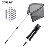 Goture Folding Aluminum Fishing Landing Net Fish Net With Extending Telescoping Pole Handle For Different Size