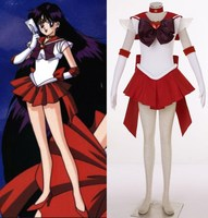 SuperS Sailor Moon Hino Rei Sailor Mars Cosplay Costumes