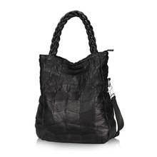 Sheepskin Women Leather Handbags Genuine Leather Bag Patckwork Designer Handbags High Quality Bolsa Women Messenger Bags