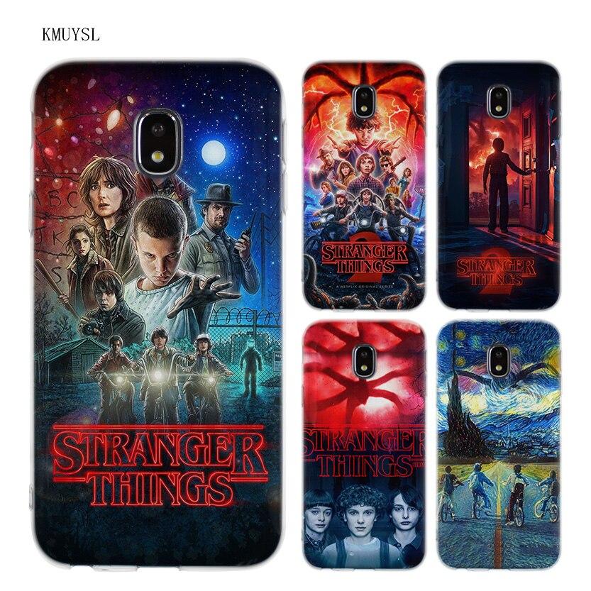 Galleria fotografica KMUYSL Stranger Things poster TPU Transparent Soft Case Cover for Samsung Galaxy J5 J7 J3 2016 2017