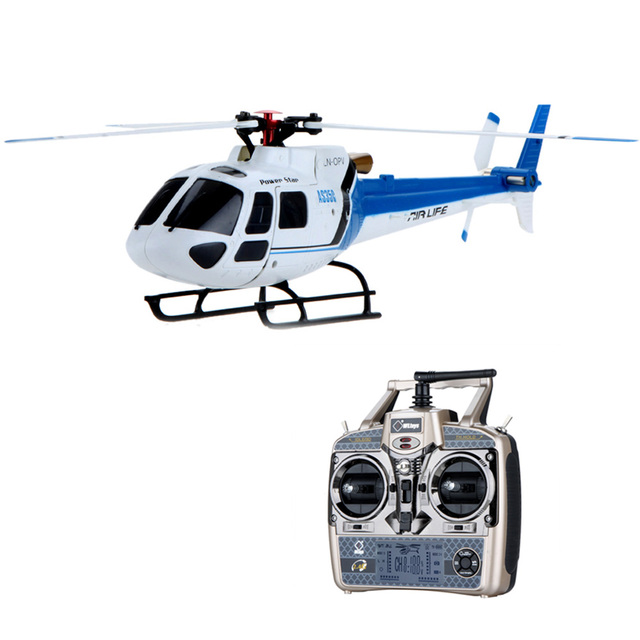 Novo!! Original Wltoys V931 6CH RTF Versão Azul Do Motor Brushless Flybarless 3 Lâmina AS350 Helicóptero DO RC Escala