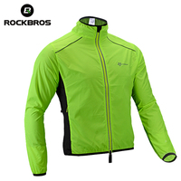RockBros Men Windproof Cycling Riding Wind Coat Breathable Reflective Jersey Cycle Clothing Long Sleeve Jacket 6