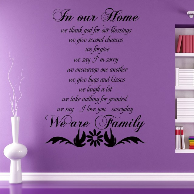 In Our Home We Thank God For Our Blessings We Give Second Chances