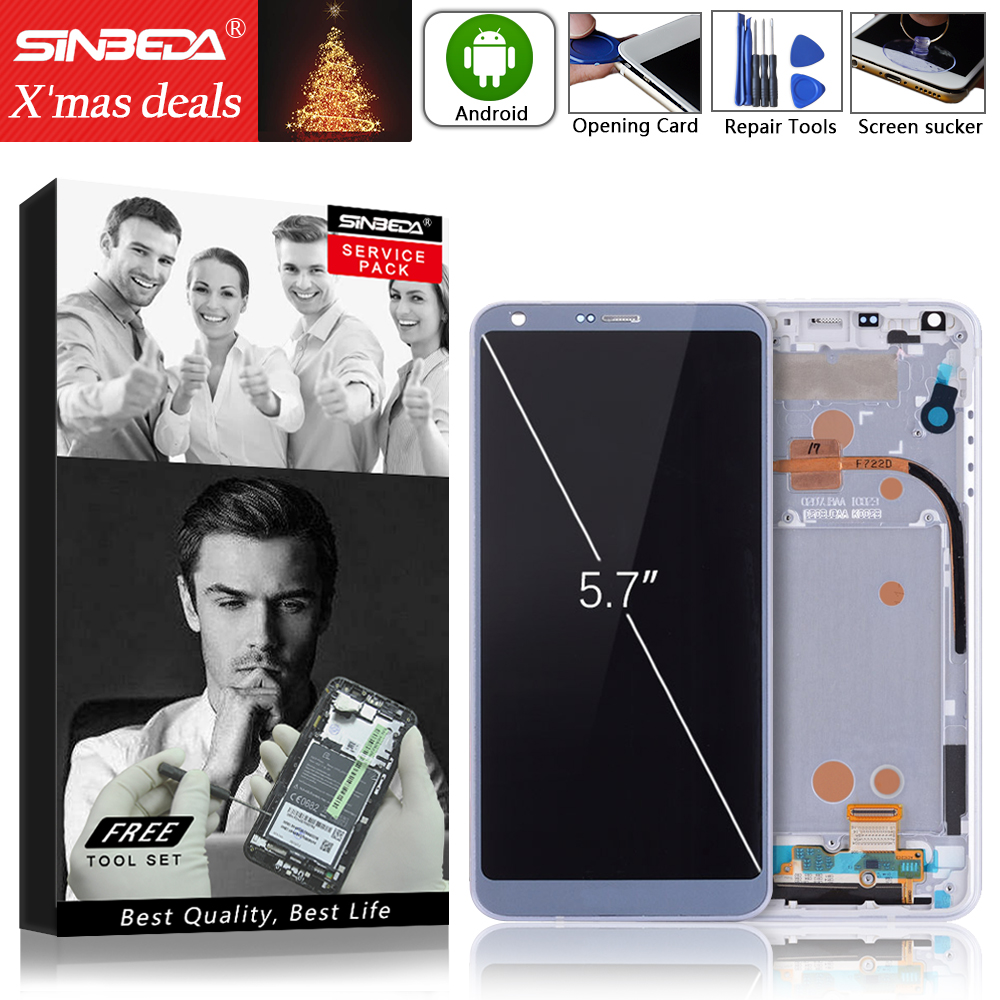 5.7Sinbeda For LG G6 LCD Display Touch Screen with Frame Digitizer Replacement For LG G6 Display G6 H870 H871 H872 LS993 VS998@5.7Sinbeda For LG G6 LCD Display Touch Screen with Frame Digitizer Replacement For LG G6 Display G6 H870 H871 H872 LS993 VS998@