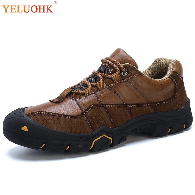 38-46 Echtem Leder Männer Stiefel Plus Größe Hohe Qualität Winter Stiefel Männer Lace Up Winter Schuhe Männer Farben Sind AuffäLlig