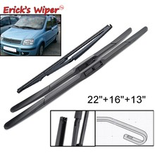 Erick's Wiper przednia i tylna wycieraczka zestaw ostrzy do Fiat Panda 169 2003-2012 szyba przednia 22