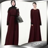 Islamic Long Sleeve Embroidered Front Wrinkle Muslim Middle Eastern Costume Dubai Hot Sale Dress Turkey Muslim abaya