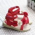 NOVA 1 pair Flor Crianças Sandálias Sapatos de Couro Genuíno de qualidade super Menina Sandálias sandálias criança