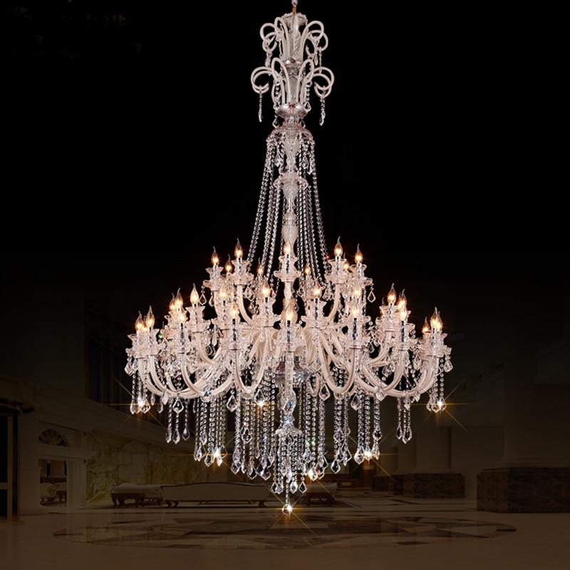 Large crystal chandeliers for hotels modern chandelier for Led lights for high ceilings