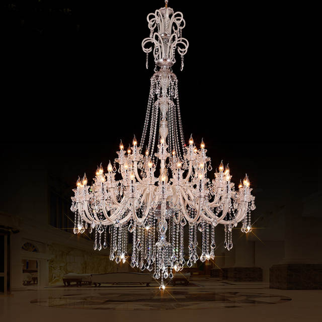 Large Crystal Chandeliers For Hotels Modern Chandelier High Ceiling Villa Club Level Led Elegant Lighting
