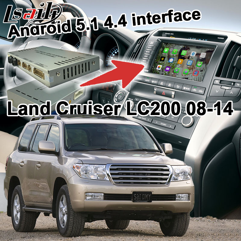 Android 6 0 GPS navigation box for Land Cruiser LC200 2005 2014 etc video interface box