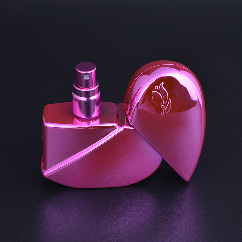 2017 Heart Shape Perfume Bottle Refillable Empty 25ml Travel Mini Atomizer Spray Pump