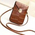 Moda Pequeno Saco Do Mensageiro Das Mulheres de Couro Crossbody Bag Ladies Bolsa de Ombro Feminino Bolsa Saco Do Telefone Móvel Embreagem Sac A Principal