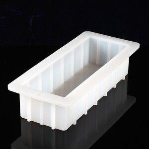 Image 3 - Formy silikonowe do mydła z przezroczystą pionową akrylową klapą biały prostokątny bochenek formy
