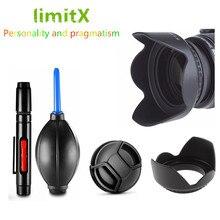 เลนส์ Hood/หมวก/ทำความสะอาด/Air Blower สำหรับ Canon EOS 60D 77D 80D 100D 200D 760D 800D 1000D 1100D 1200D 1300D 18 55 มม.