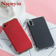 Napeyin Plating Case for iphone 7 8 Plus X Matte Hard PC Cover for iphone X Cases Anti knock Full Body Phone Bag for iphone 8