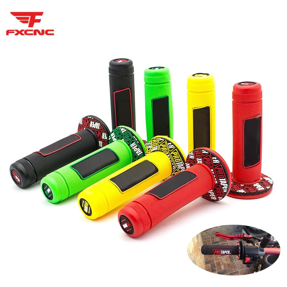 Rubber Hand Grips Handle Bar Grips Handlebar For Kawasaki KX65 KX85 KX125 KX250 KX250F KX450F KLX250,D-TRACKER Pivot Dirt Bike