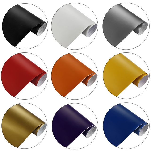 Car styling Matt Vinyl Film Sticker Foil Bubble Free Car Wrapping Motorcycle Automobiles Car Accessories Stickers