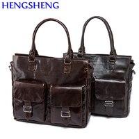 Hengsheng Популярные натуральная кожа мужская сумка для мода деловых людей сумка на плечо и мужские сумки от корова мужская кожаная сумка
