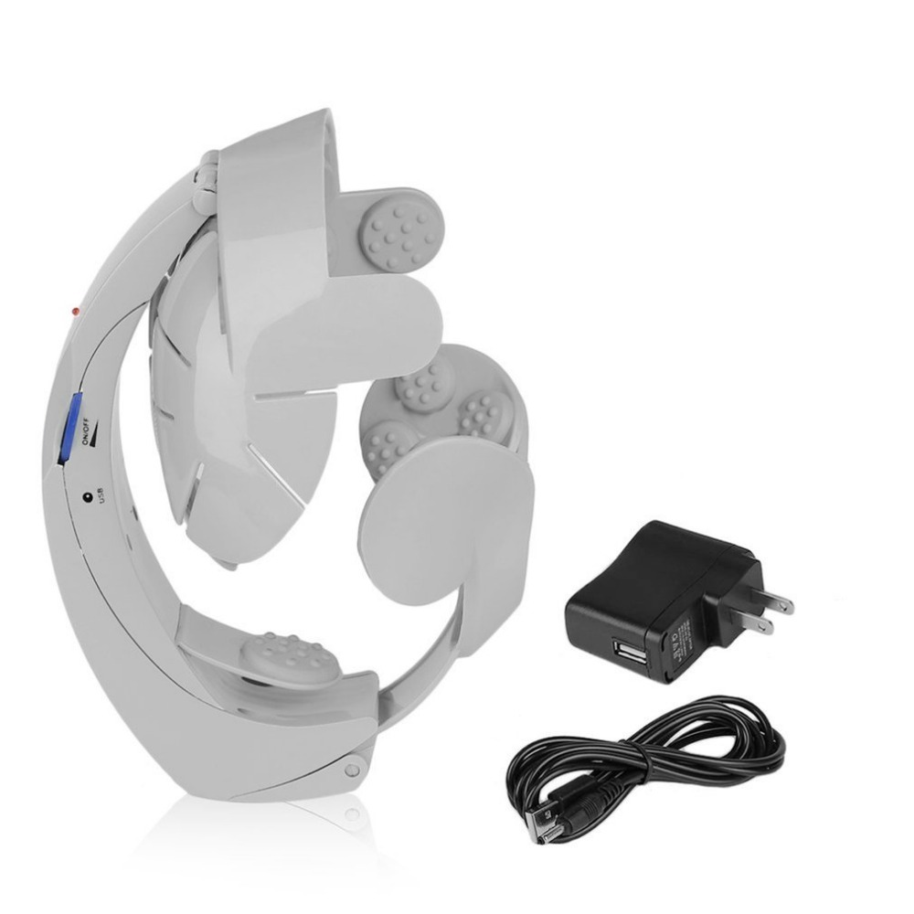 Humanized Design Electric Head Massager Brain Massage Relax Easy Acupuncture Points Fashion Gray Health Care HomeHumanized Design Electric Head Massager Brain Massage Relax Easy Acupuncture Points Fashion Gray Health Care Home