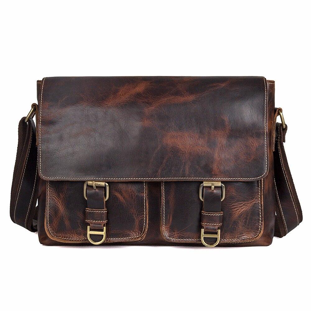 Haute qualité mode Style nouveaux produits brun sac à bandoulière sac à bandoulière Messenger sac pour hommes d'affaires 1038Q
