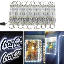 цена на LED Module SMD 5050 3 LED DC12V Waterproof Store front Strip Light Advertising Sign Lamp Modules Lights White Color (20-100PCS)