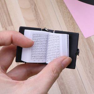 Image 4 - Mini Ark Koran Boek Sleutelhanger Real Papier Kan Lezen Arabisch De Koran Sleutelhanger Moslim Sieraden Kerst Decoratie Kinderen Geschenken