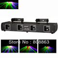 HOT 4 Lens Purple/Green/Red/yellow DMX512 Laser show lighting Party ktv disco dance club Professional Stage light system  x7