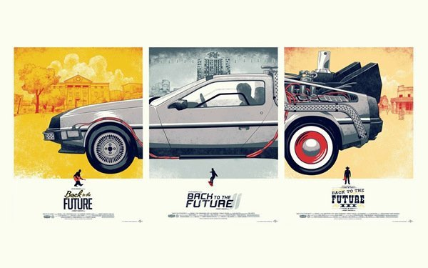 "01 Back To The Future 38"" x 24"" Inch Sticker Poster Wallpaper"