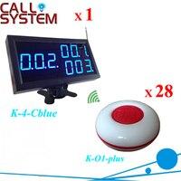 Горячая продажа услуги колокольчик пейджер системы для кафе/казино/Гольф центр 1 дисплей Панель 28 передатчиков