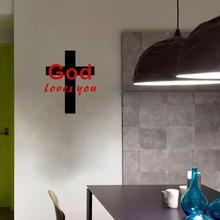 God Loves You Creative Vinyl Wall Sticker Home Art Decor Decal for Living Room