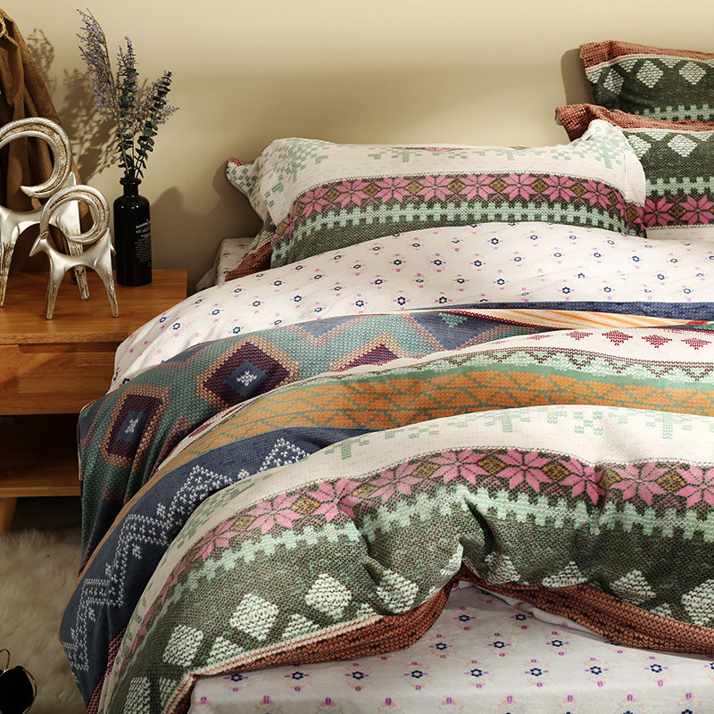 buy christmas flannel duvet cover sets queen king size bedding sets for adults soft bed sheets pillow case from reliable king