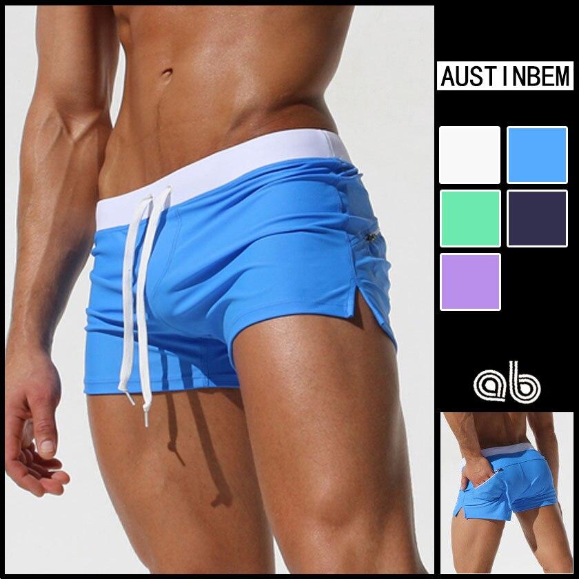 bf7c8ba909 New Men's Swimsuits Swim Trunks Boxer Briefs Sunga Swim Suits Maillot De  Bain Beach Shorts