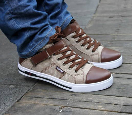 Free shipping New arrival 2014 fashion retail hot Men's sneakers high casual shoes autumn winter flats canvas shoes DZ132001