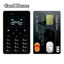 Ultra Mince Carte Mobile Téléphone 4.8mm AIEK M5 AEKU M5 SOYES X6 Faible Rayonnement mini pocket étudiants personnalité enfants téléphone