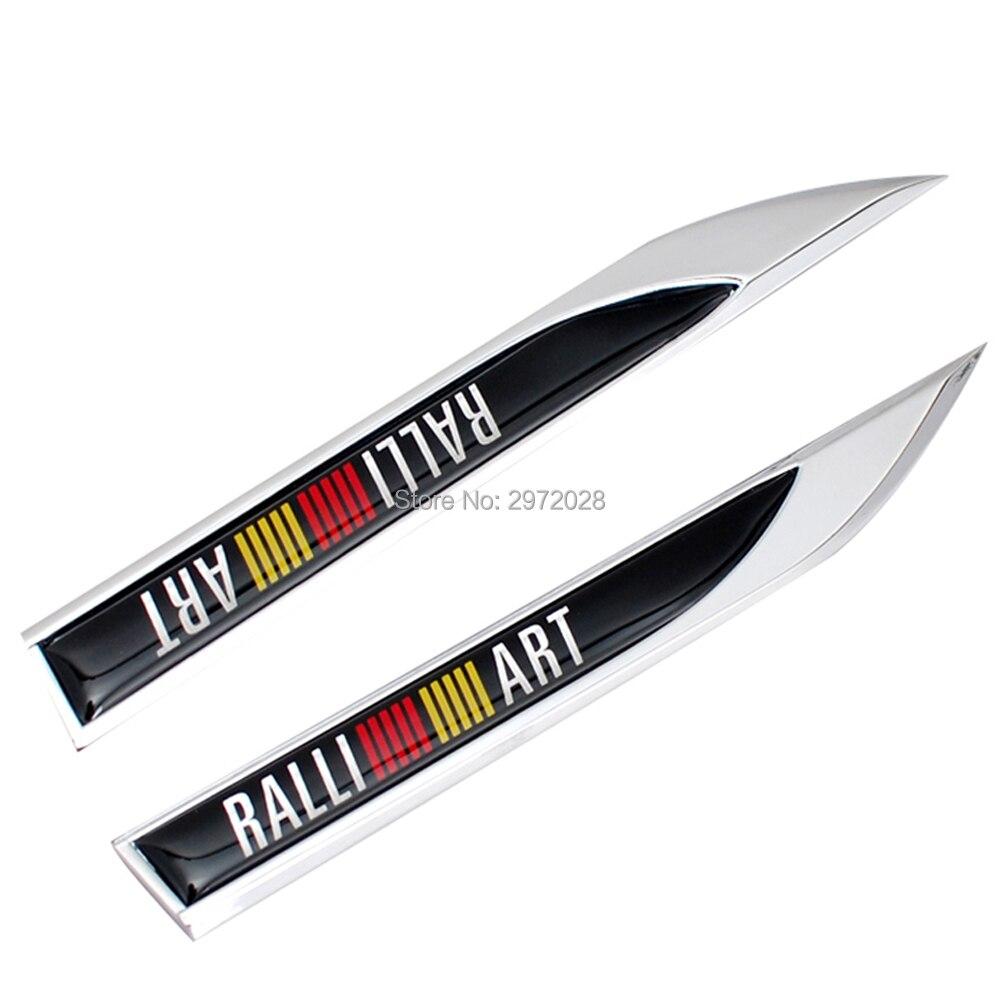20 x Car Body Fender Side Metal Chrome Zinc Alloy Knife Side 3D Emblems Badges Decals