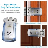 Wafu WF 018 Wireless Remote Control Electronic Smart Lock Keyless Door Lock 4 Remote Controllers Deadbolt with Built In Alarm