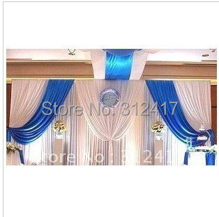 Whole And Retail Two Layer Wedding Backdrop Curtain Baby Shower Stage