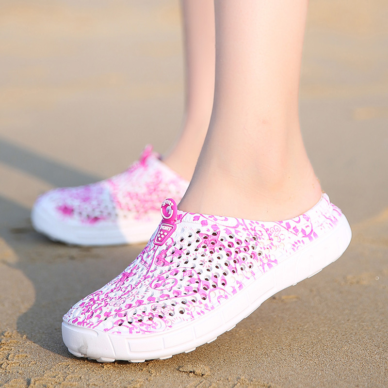 2018 New Comfortable Big Size Men Women Beach Croc Sandals Soft Clogs Outdoor Garden Sho ...
