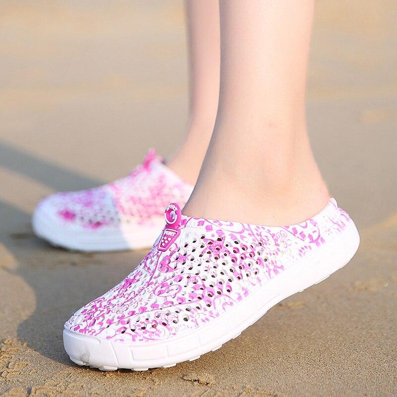 2018 Nouveau Confortable Grande Taille Hommes Femmes Plage Croc Sandales Doux Sabots En Plein Air Jardin Chaussures Trou Respirant Flip Flops