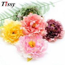 5PCS 4.8inch(12cm)  Silk Flowers Artificial For Wedding Home Decoration Festive Party Supplies