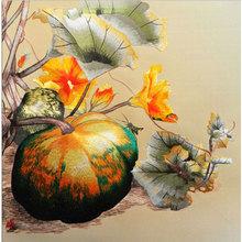 strong Import List strong DIY 100 morwy jedwabiu Suzhou (jiangsu) zestawy do haftu wzory drukowane zestawy do haftowania zestawy do dyni 25*25 cm tanie tanio Obrazy Tradycyjny chiński PAPER BAG Zwykły haft krzyżykowy haft PLANT Składane