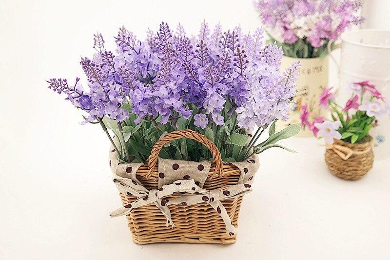 Rattan square basket artificial flower overall floral silk flower handmade lavender - Wedding Depository - HTB1VauCGFXXXXXDaXXXq6xXFXXX1