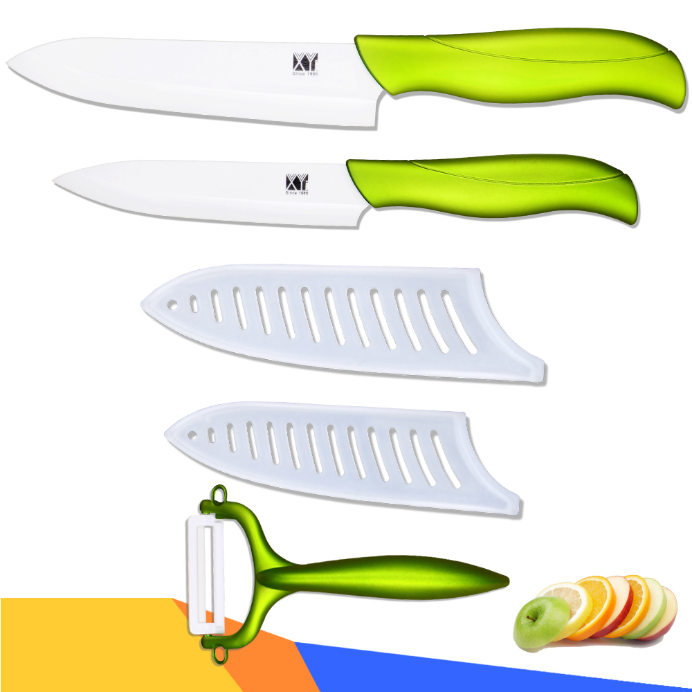 High quality ceramic knives 5 inch slicing 6 inch chef kitchen knives ceramic peeler sharp cooking