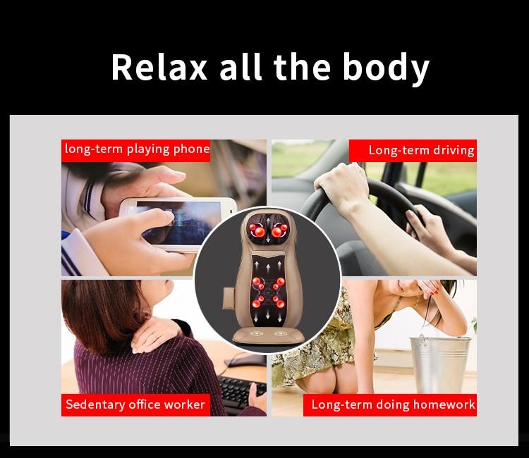 JinKaiRui Electric Back Massager Vibrate Cervical Massage Device - Sjukvård - Foto 5